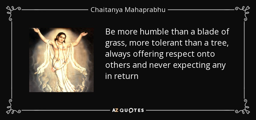 quote be more humble than a blade of grass more tolerant than a tree always offering respect chaitanya mahaprabhu 61 80 70