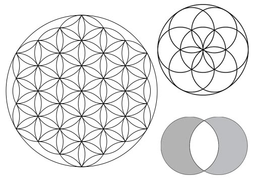 vesica piscis flower of life